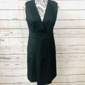 Hugo Boss Black V-Neck Sleeveless Cotton Dress 8